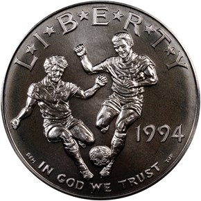 1994 D WORLD CUP S$1 MS obverse