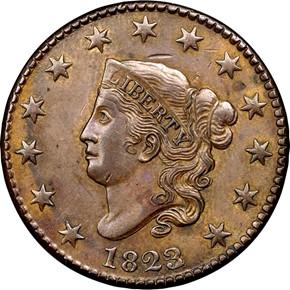 1823/2 N-1 1C MS obverse