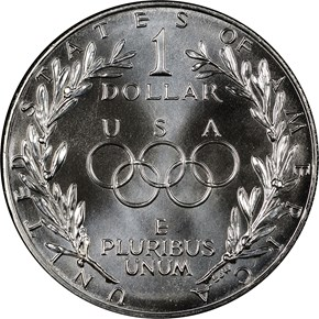 1988 D OLYMPICS S$1 MS reverse