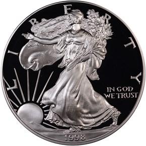 1998 P EAGLE S$1 PF obverse