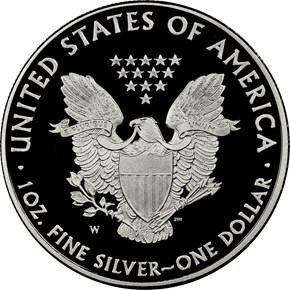 2011 W EAGLE 25TH ANNIVERSARY SET S$1 PF reverse