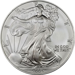 2005 EAGLE S$1 MS obverse
