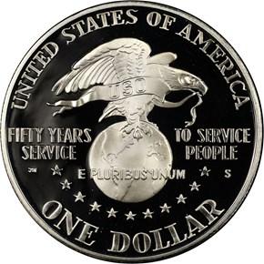 1991 S USO S$1 PF reverse