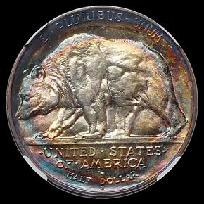 1925 S CALIFORNIA 50C MS reverse