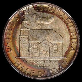 1936 DELAWARE 50C MS obverse