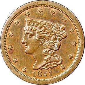 1851 C-1 1/2C MS obverse