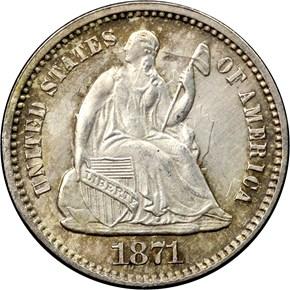 1871 H10C MS obverse