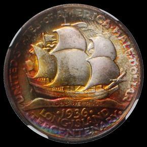 1936 LONG ISLAND 50C MS reverse