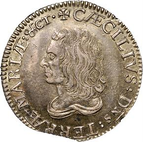 c.1659 LORD BALTIMORE MARYLAND 1S MS obverse