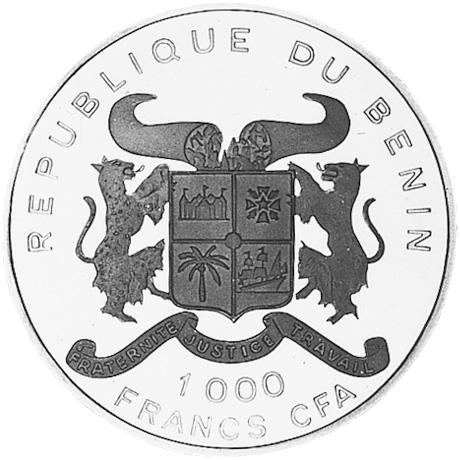 (1992) Benin 1000 Francs obverse