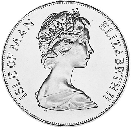 (1978) Ascension Island 25 Pence, Crown obverse