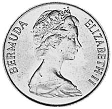 1970-1985 Bermuda Cent obverse
