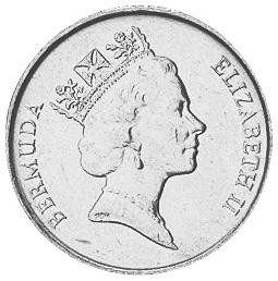 1986-1998 Bermuda 5 Cents obverse
