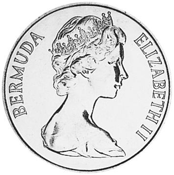 1970-1985 Bermuda 50 Cents obverse