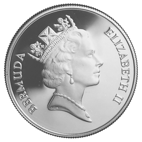 1986 Bermuda Dollar obverse