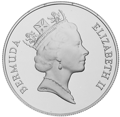 1987 Bermuda Dollar obverse