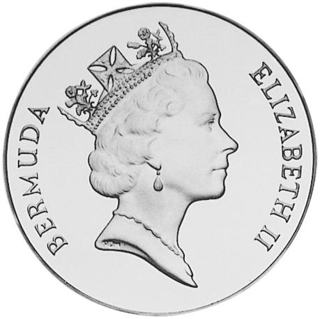 1991 Bermuda 2 Dollars obverse
