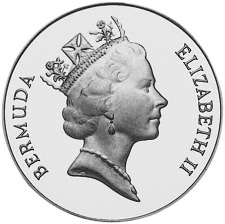 1992 Bermuda 2 Dollars obverse