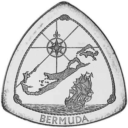1996 Bermuda 3 Dollars reverse