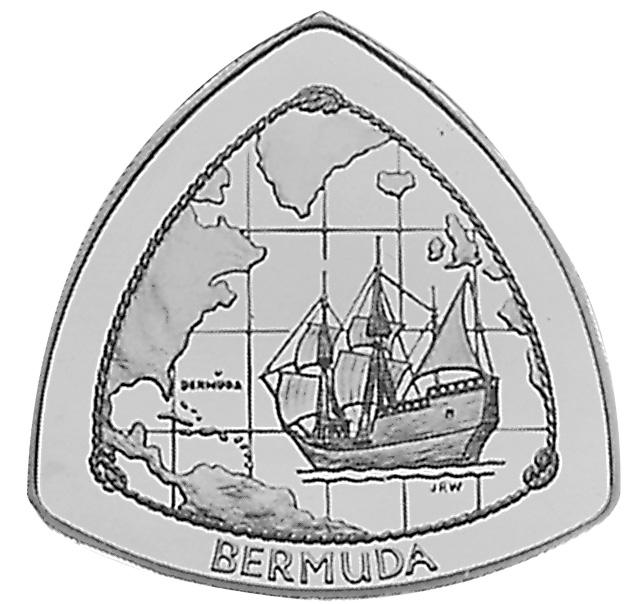 1998 Bermuda 9 Dollars obverse
