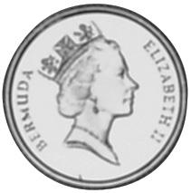 1990 Bermuda 10 Dollars obverse