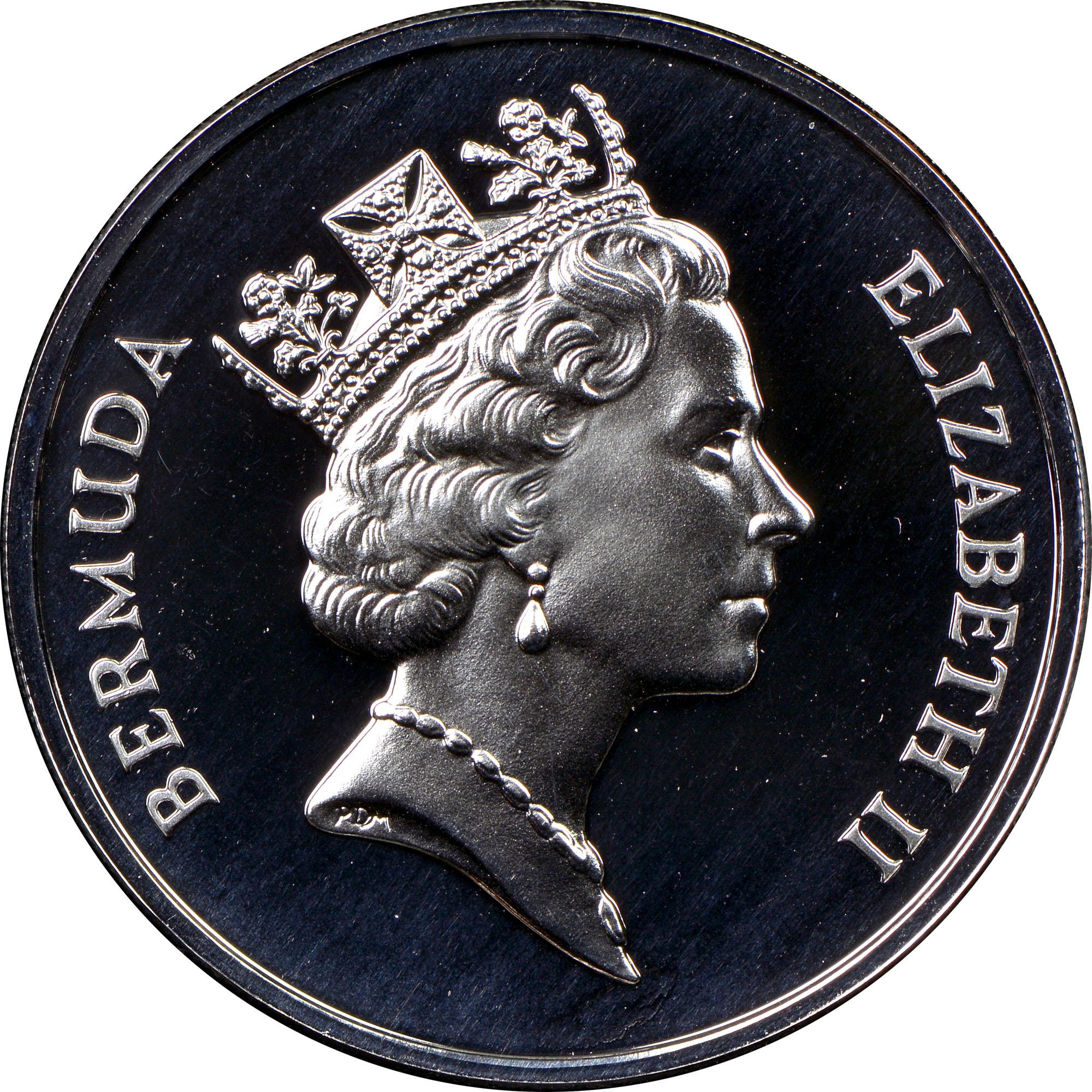1987 Bermuda 25 Dollars obverse