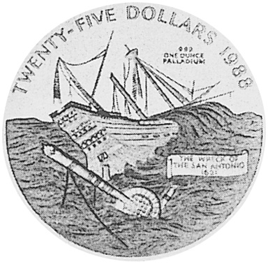 1988 Bermuda 25 Dollars obverse