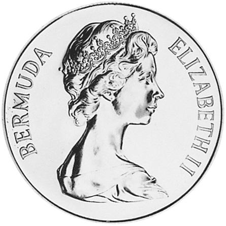 1990 Bermuda 25 Dollars obverse