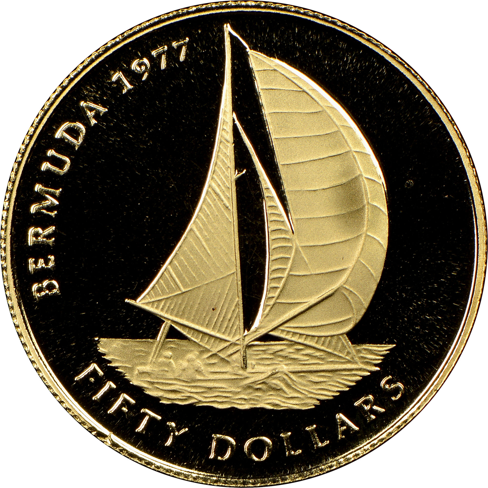 1977 Bermuda 50 Dollars reverse