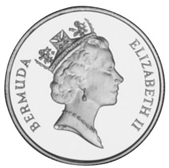 1990 Bermuda 50 Dollars obverse