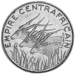 1978 Central African Republic 100 Francs obverse