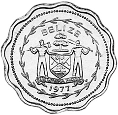1977-1981 BELIZE Cent obverse