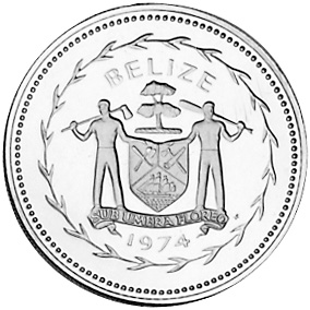1974 Belize 25 Cents obverse