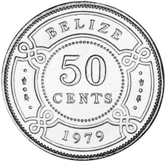 1974-2010 Belize 50 Cents reverse