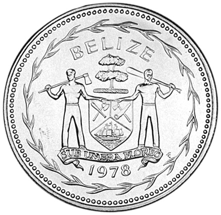1974-1981 Belize Dollar obverse