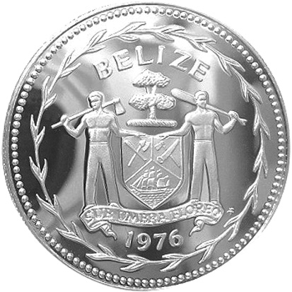 1974-1981 BELIZE Dollar obverse