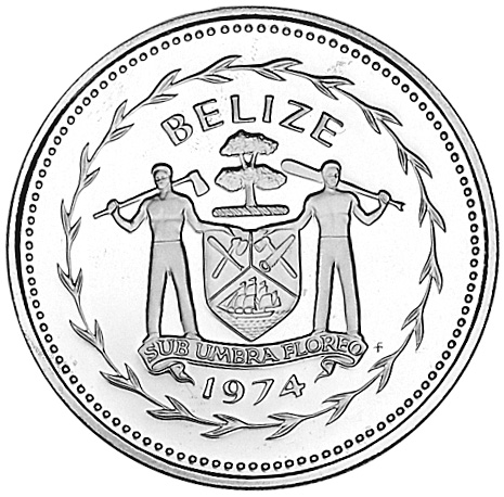 1974-1981 BELIZE 5 Dollars obverse