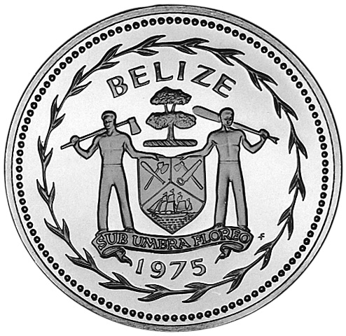 1974-1978 BELIZE 10 Dollars obverse