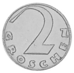 1925-1938 Austria 2 Groschen reverse