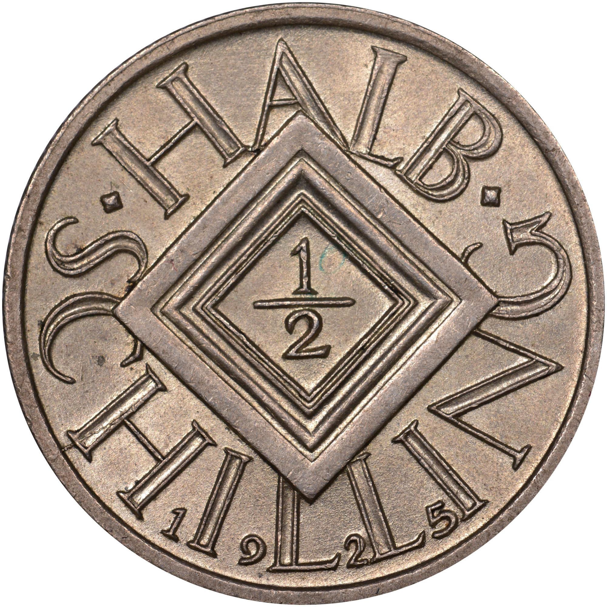 1925-1926 Austria 1/2 Schilling reverse