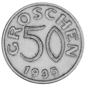 1935-1936 Austria 50 Groschen reverse