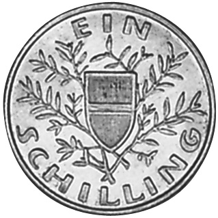 1924 Austria Schilling reverse