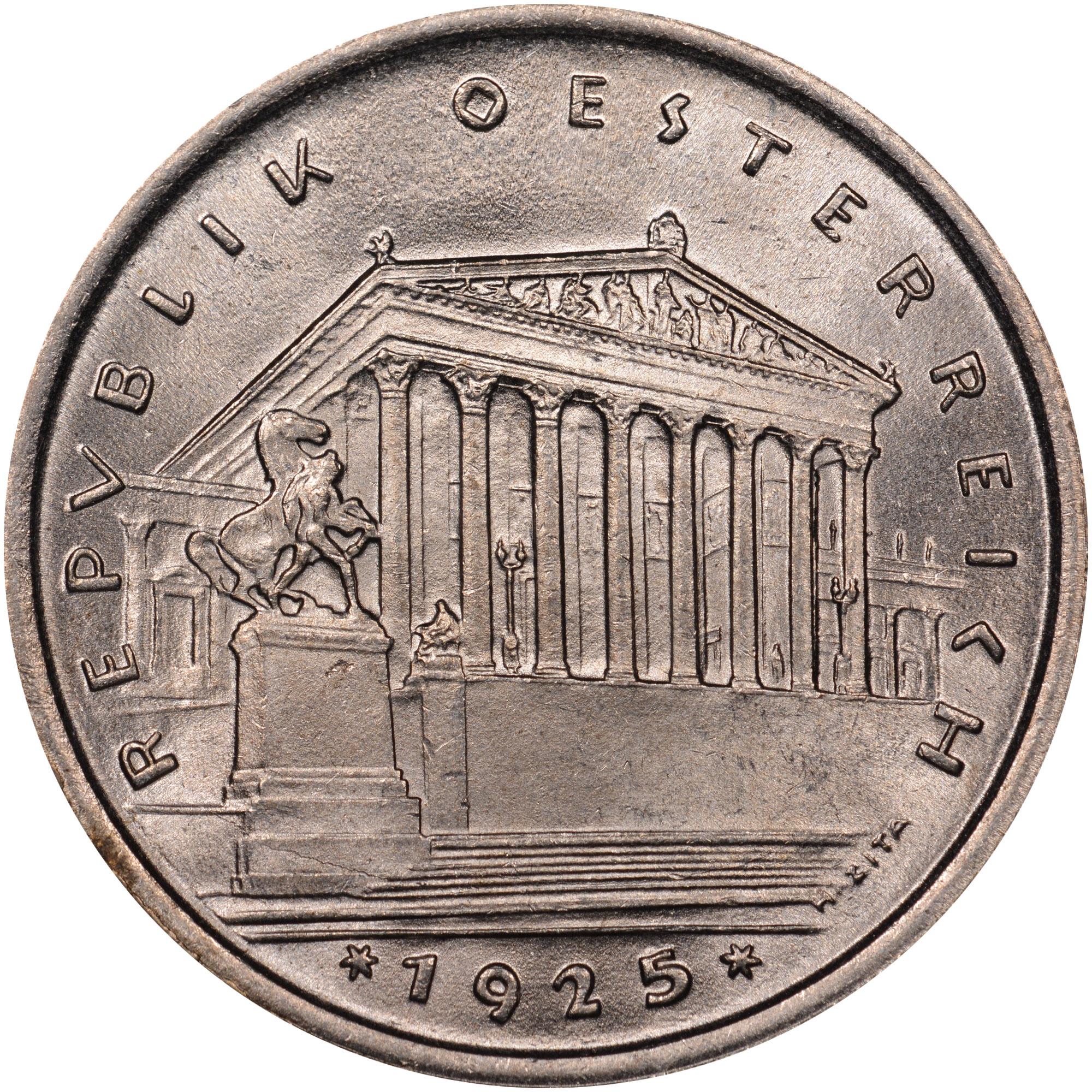 1925-1932 Austria Schilling obverse