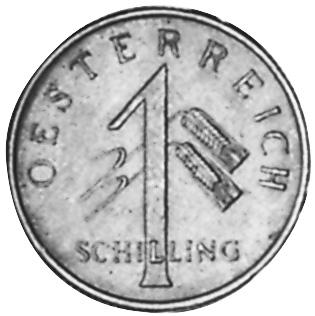 1934-1935 Austria Schilling obverse
