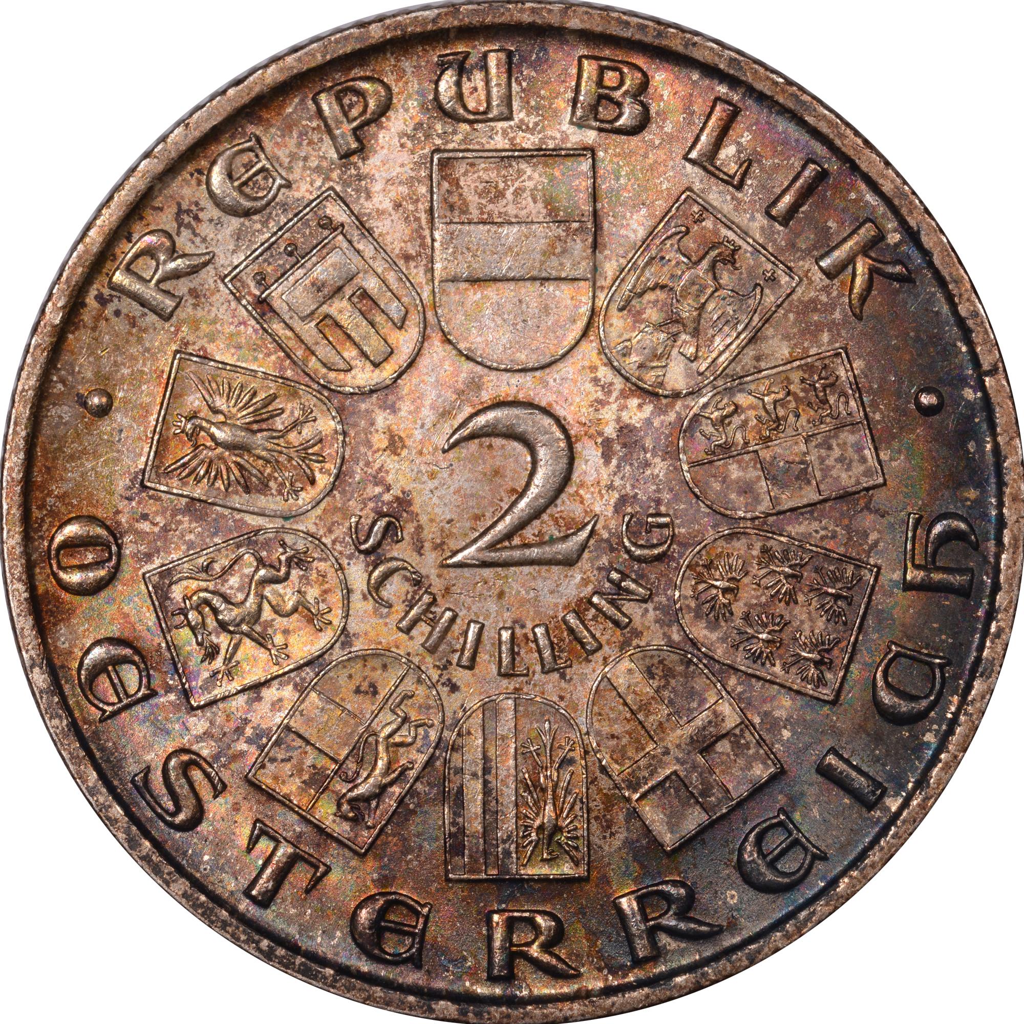 1928 Austria 2 Schilling reverse