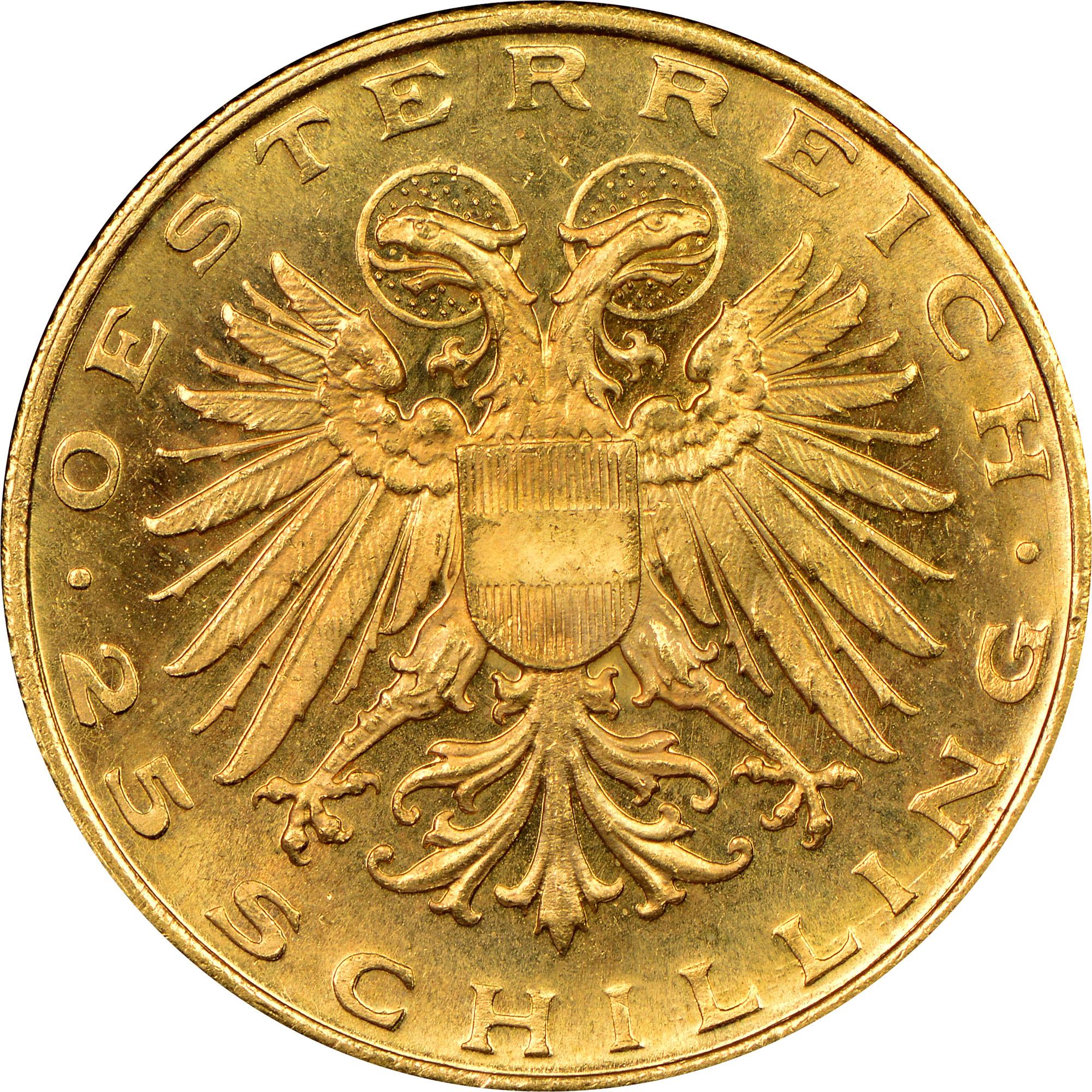 1935-1938 Austria 25 Schilling obverse