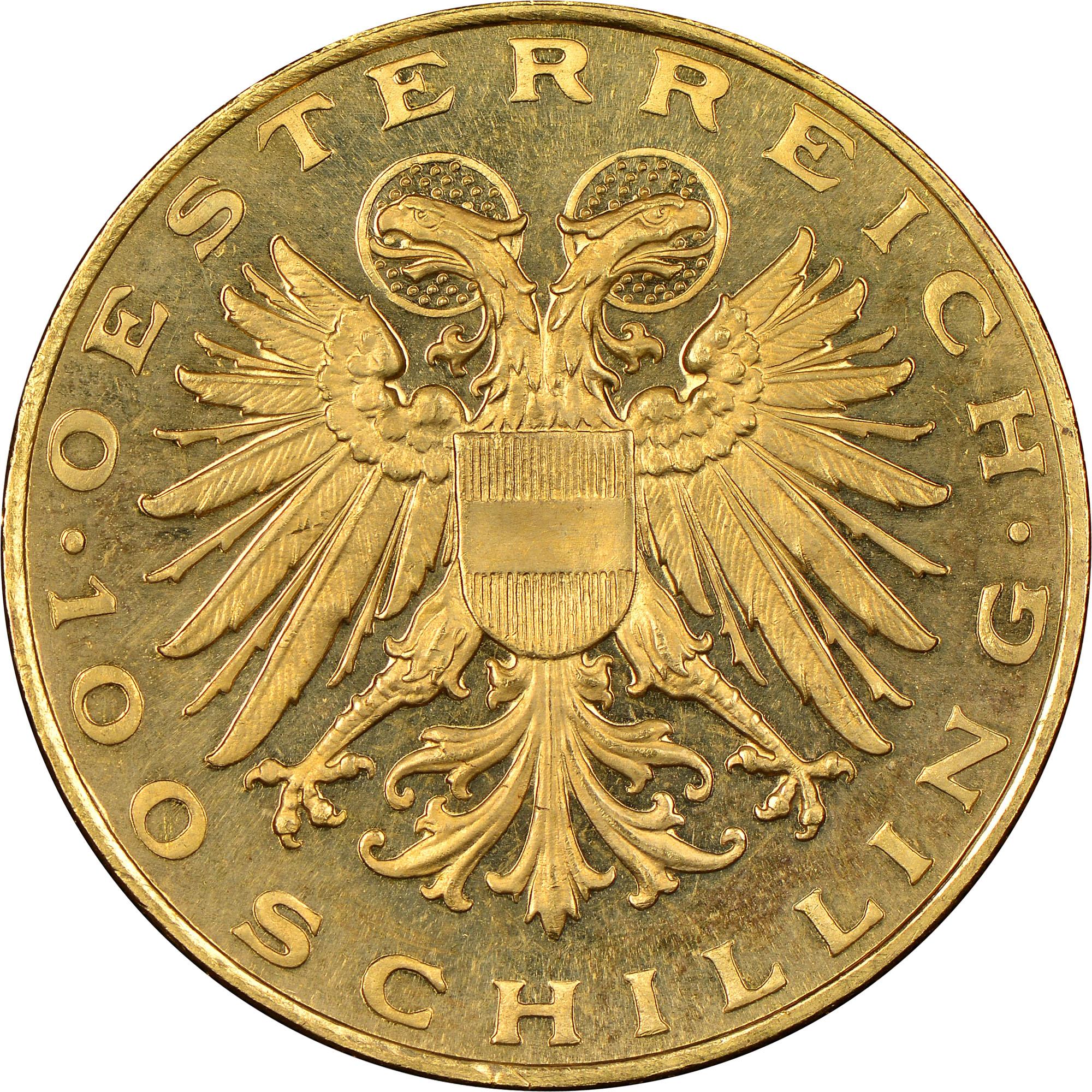 1935-1938 Austria 100 Schilling obverse