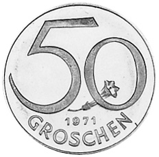 1959-2001 Austria 50 Groschen reverse