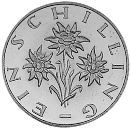 1959-2001 Austria Schilling reverse