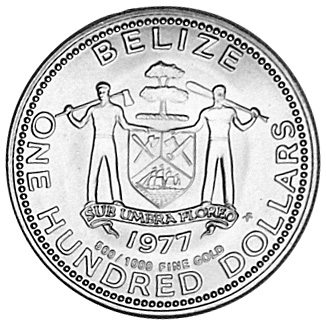 1977 BELIZE 100 Dollars obverse